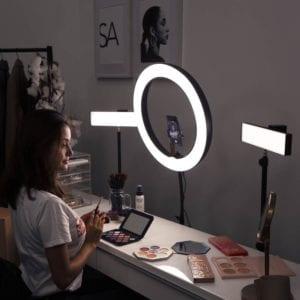Spectrum professional youtube video lighting kit spectrum aurora ring light led 1